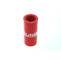 Szilikon összekötő, egyenes TurboWorks Piros 25mm